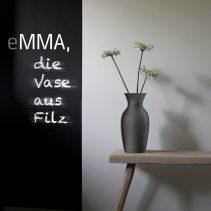 eMMA L grau die Filzvase von nettedinge.com
