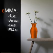eMMA L orange die Filzvase von nettedinge.com