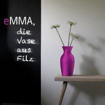 eMMA L pink die Filzvase von nettedinge.com
