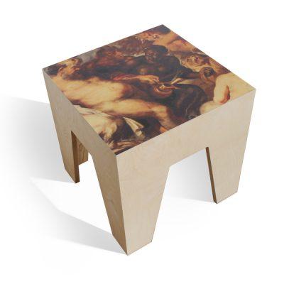 nettedinge.com arthock, der Holzbeistelltisch mit Barock Motiv