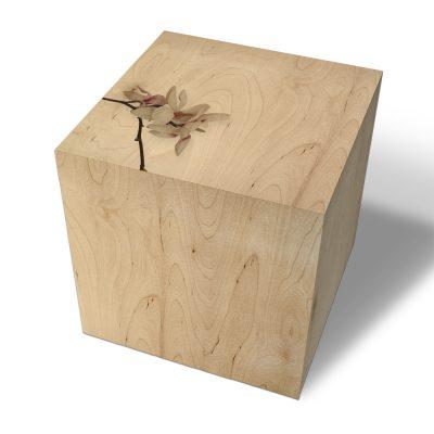 nettedinge.com arthock, der Holzhocker mit Magnolien Motiv