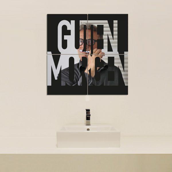 Spiegel 4x 30x30 GUTEN MORGEN von nettedinge.com